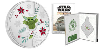 Grogu Christmas/Holiday Silver Coin from NZ Mint